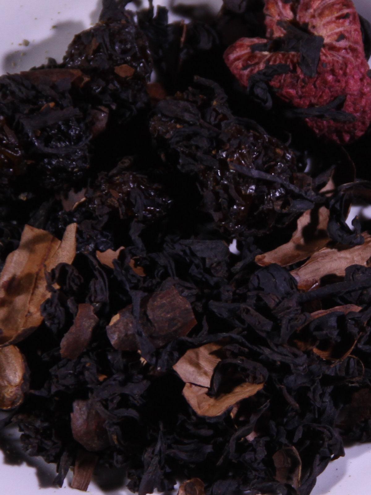 Brownie-Bosvrucht zwarte thee biologisch